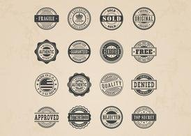 Free Commercial Stamp Vector Set
