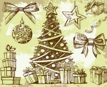 Grungy Vintage Xmas Design