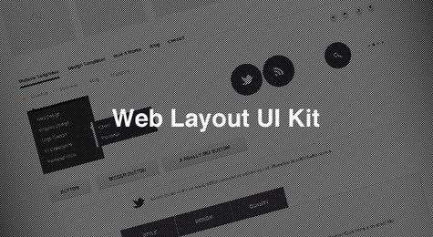 Web Layout Ui PSD Kit