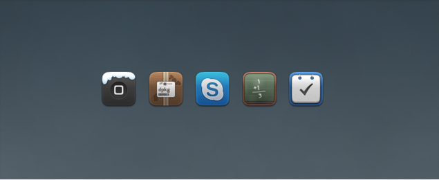 Calculator, Skype, Things, Winterboard Replacement Icons