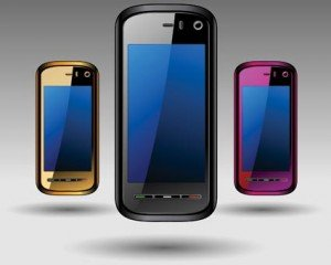 Stock Ilustrations Mobile Phones