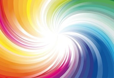 Abstract Rainbow Colors Wave Background