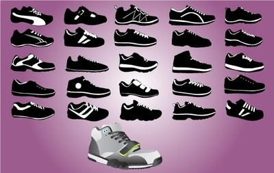 Sports Shoe Pack Black & White