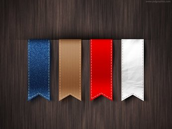 Vertical ribbons template (PSD)