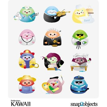 KAWAII PROFESSIONS VECTOR PACK.eps
