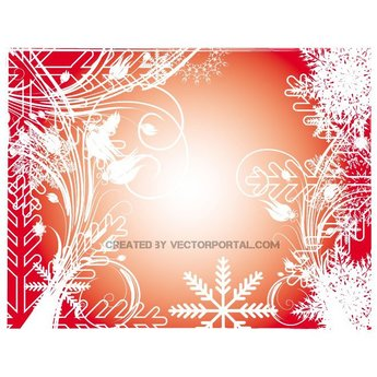 WINTER DECORATIVE STOCK VECTOR BACKGROUND.ai