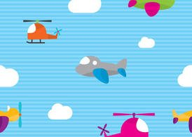 Cute Airplane Vector Pattern