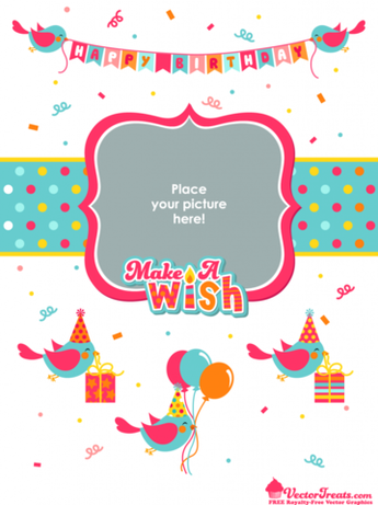 Free Royalty-Free Birthday Vectors to Make Your Wish Come True