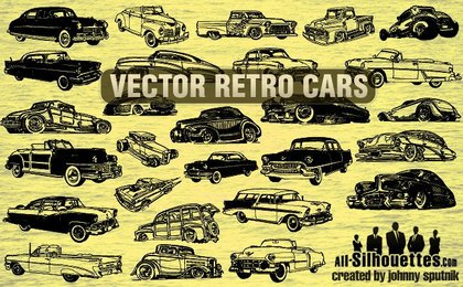 27 Vector Retro Cars