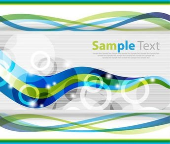 Corporate Background Template with Waves & Circles