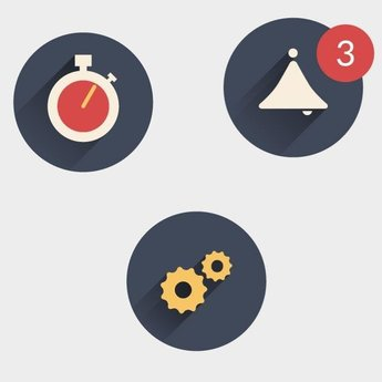 TIME AND ALARM ICONS VECTOR PACK.eps