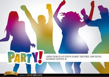 People dancing in party promo