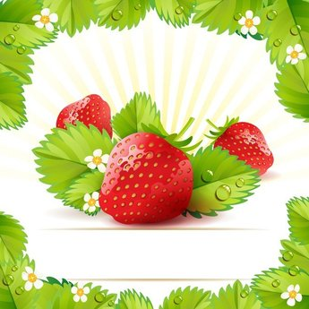 Strawberry Theme Background