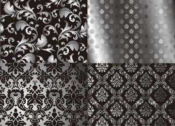 Black and white two-party continuous pattern