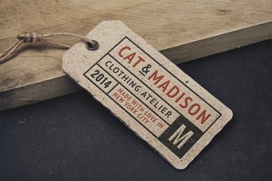 Vintage Label Tag MockUp