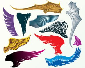 Stock Illustrations Wings-Set