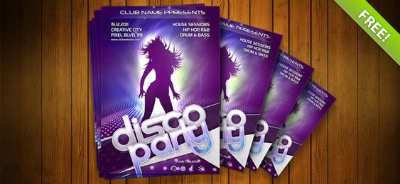 Night Club Flyer PSD Template