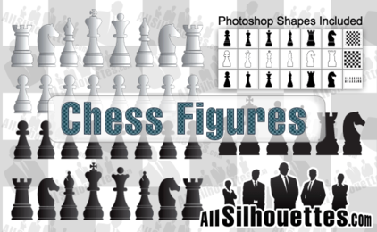 21 Vector Chess Figures