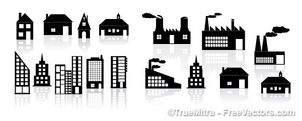 Home and Factory Icons