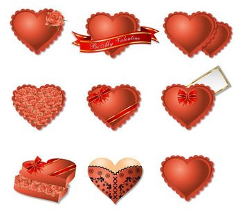 Romantic heart-shaped gift box packaging