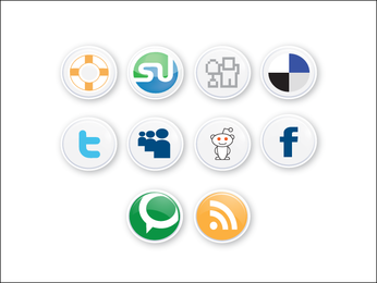 Clean Social Buttons