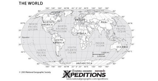 Geographical World map free