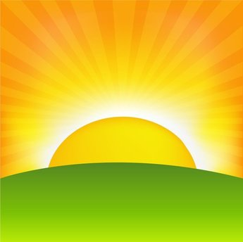 Sunrise Cartoon Background