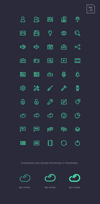 Stroke Gap Icons Set Vol.1