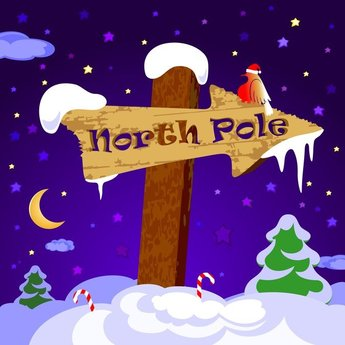 Cute Wooden Sign Vector On Snow