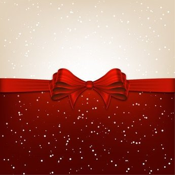 Christmas Background Divided with Ribbon