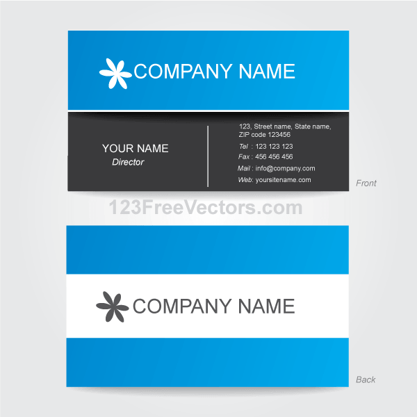 Corporate Business Card Template Illustrator Vector Files - Business card template illustrator