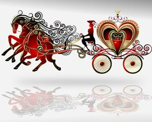 Stock Illustrations horse-drawn carriage