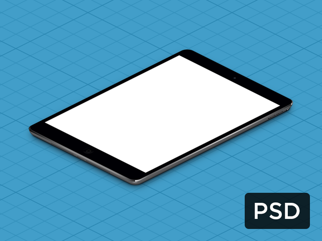 iPad Mini True Isometric PSD