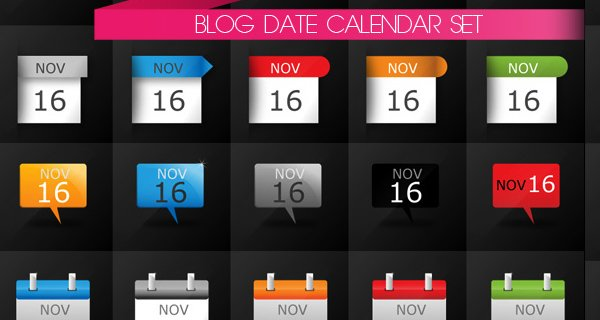 Date Calendar Icons, Free