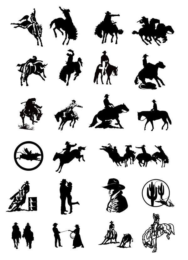 Series II picture black and white cowboy