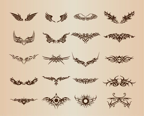 Tattoo Elements Vector Set