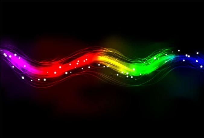 Blurry Abstract Neon Spectrum Light Effect Background
