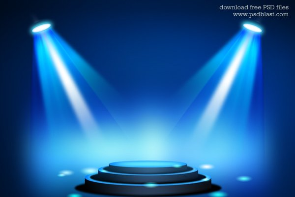 Stage Lighting Background with Spot Light Effects (PSD ...
