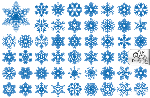 free free vector snowflakes illustrator and photoshop shapes psd files vectors graphics 365psdcom