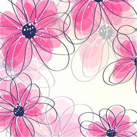 Free vector flower background