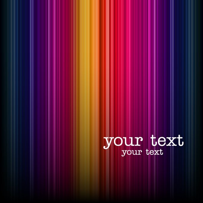 Abstract Dark Colorful Stripe Background
