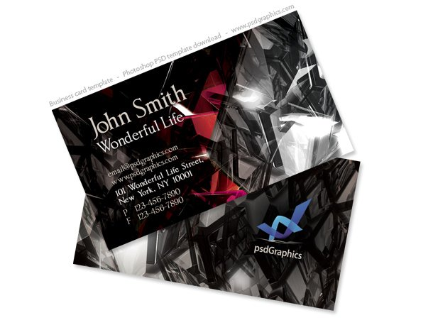 Free black crystals business card design two sided template psd free black crystals business card design two sided template psd files vectors graphics 365psd reheart Gallery