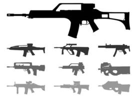 Automatic Weapons Silhouettes