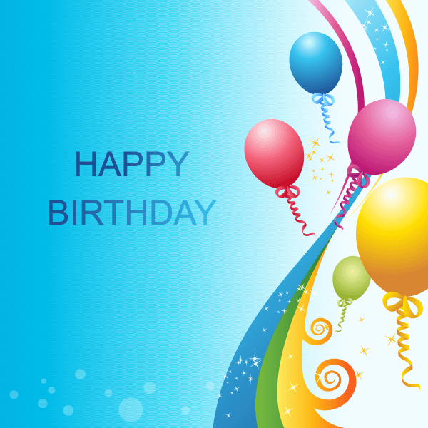 free happy birthday background vector template psd files vectors graphics 365psdcom - Free Birthday Templates