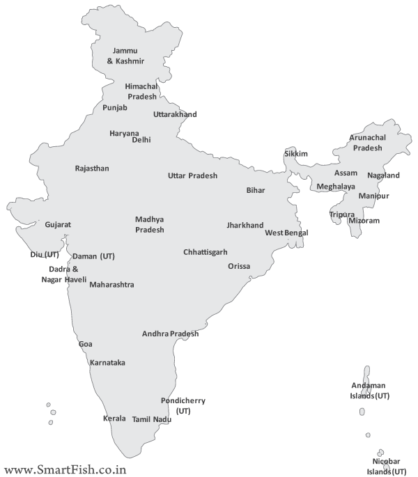 Free Vector Map Of India Vector File PSDcom - India map vector