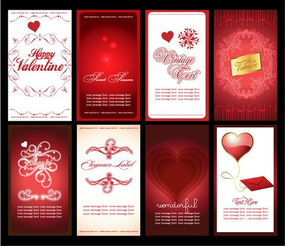 Vector Heart Valentines Day background