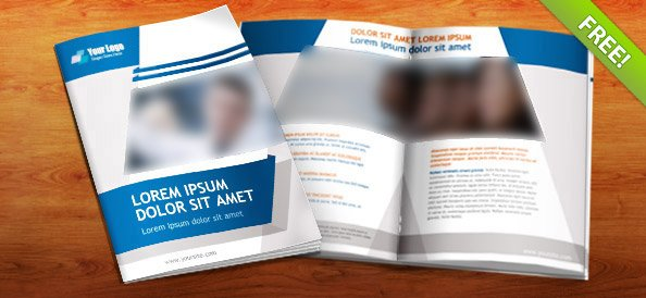 Free Psd Booklet Template   Pages Vector Image  PsdCom