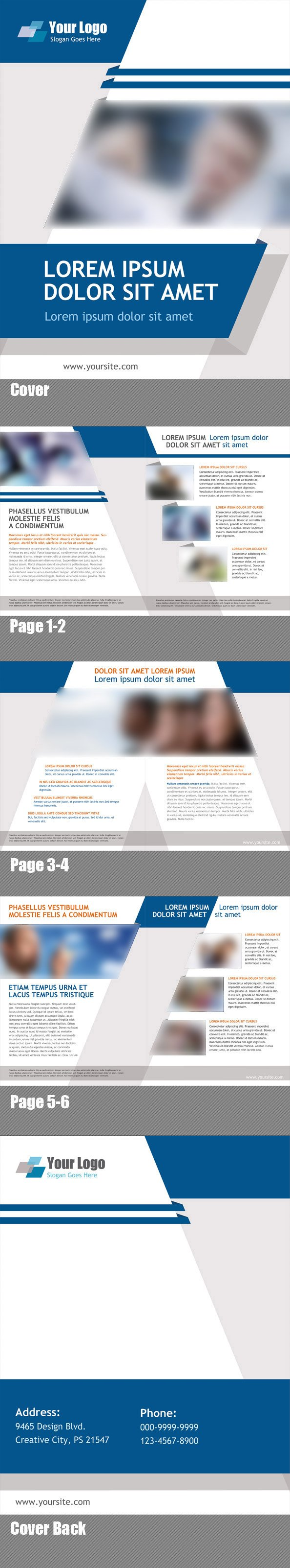 Free PSD Booklet Template 8 Pages vector image 365PSDcom