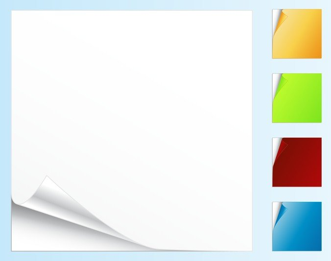 Blank Colored Paper Roll Angle