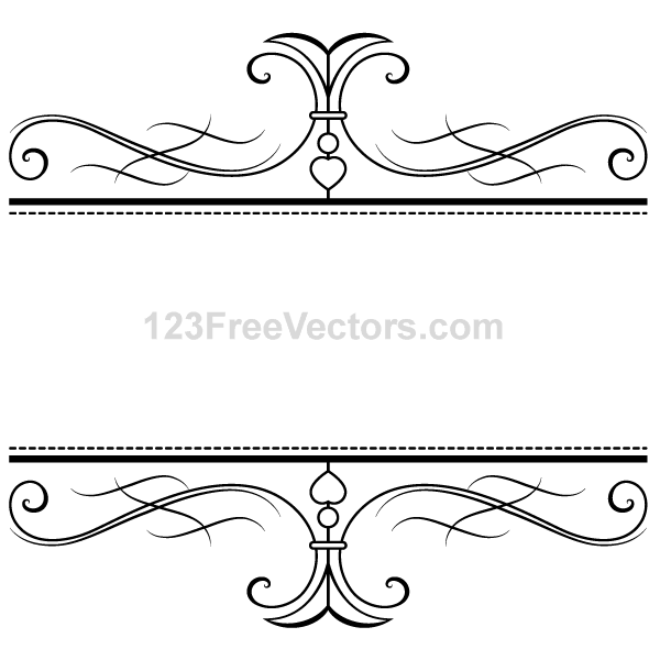 Calligraphy ornamental frame vector images psd